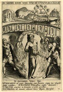 """Jan van Haelbeck, """"In medio ignis..."""" from """"Ecclesiae Militantis Triumphi,"""" British Museum, c. 1600-1620"""